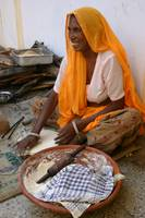Indian Woman Making Bread