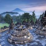 """The Hidden Buddhist Temple of Borobudur at Sunrise"" by stuckincustoms"