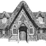 """Stipple Pen and Ink Irish Cottage"" by DulceDiane"