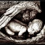 """""""Baby in Angels wings - Sleep in Heavenly Peace"""" by DeniseOBrien"""