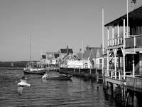 Nantucket harbor waterfront