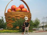 JJ and I at The World's Largest Apple Basket