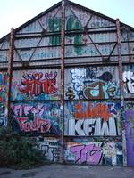 Huge shed graffiti