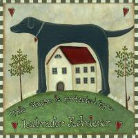Primitive Labrador 2 Art Prints & Posters by Martina Nichols