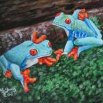 """Blue frogs"" by laughingface2"