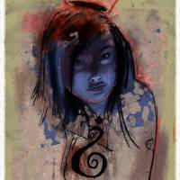 Urban Portrait | Princess | Street Art Art Prints & Posters by Alex Alexakis
