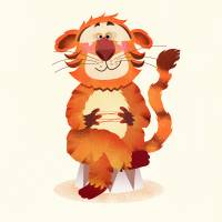 orange tiger, illustration for children Art Prints & Posters by Torsten Lass
