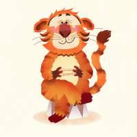orange tiger, illustration for children Art Prints & Posters by Torsten Lass