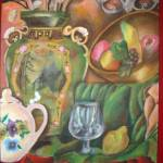 """Green Urn (Acrylic) 18"