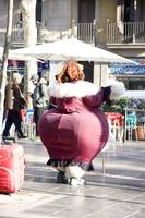 big woman in Les Rambles. Barcelona