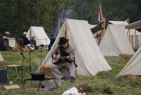 3H194 Civil War Reenactor in Georgetown Ohio