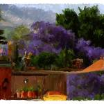 """Jacaranda Trees."" by Edith"