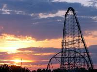 Sunset Over Cedar Point