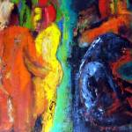 """CLOSENESS Oil on Canvass 76x56cm Leyla Murr"" by leyla"