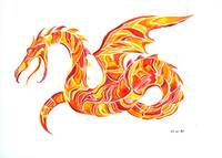 Feuerdrache    fire dragon