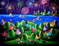 Fourth Of July 2 Fireworks Fun Folk Art