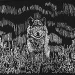 """wolfscratchboard"" by neverwnding"