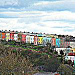 """Rainbow Road, Bristol City, England"" by Emerald2810"