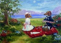 Valentines Day- two Dachshund Dogs in Love SM Viol