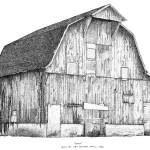 """Pen and Ink Stippled Barn drawing"" by DulceDiane"