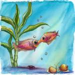 """Kissing Fish"" by nofcna"