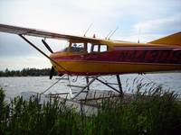 Alaska Float Plane Vintage Color