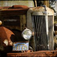 Rusty truck in California Art Prints & Posters by Monica Barba