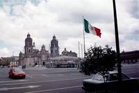 Zocalo with a view of the Cathedral