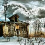 """""""this old trout lake log house ~ landscape"""" by MarkMcCulloch"""