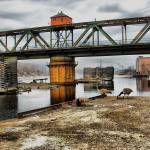 """geese @ chippewa bridge ~ landscape"" by MarkMcCulloch"