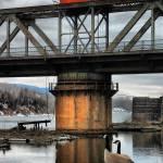 """geese @ chippewa bridge ~ portrait"" by MarkMcCulloch"