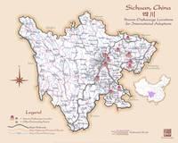 Sichuan China Orphanage Location Map