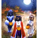 """Happy Halloweenie- the King!  Dachsund Dogs SM Vio"" by stella"