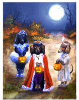 Happy Halloweenie- the King!  Dachsund Dogs SM Vio