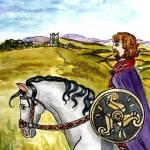 """Celtic Irish Horseman"" by francesbyrne"