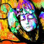 """Daydream: Yellow Orange Purple Green 9159"" by vicki-pix"