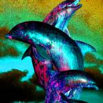 """dolphins sculpture"" by vicki-pix"