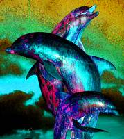 dolphins sculpture