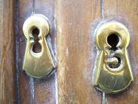 Decorative Keyholes.
