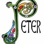 """Celtic Irish Art Name Peter"" by francesbyrne"