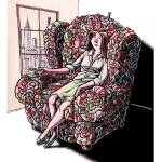 """Woman Sitting in Chair Made of Her Friends"" by LisaHaney"