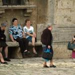 """old ladies in plaza"" by georgekaplanimages"