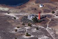 Monomoy Point Lighthouse Aerial Photo