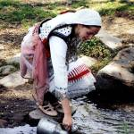 """girl in traditional macedonian clothes"" by nehru"