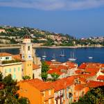 """Harbor scene on the French Riviera"" by marywhitmer"