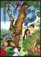 Bible Stories: Garden of Eden Watercolor Painting