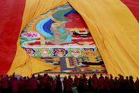 Thanka ceremony,Labrang,China