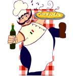 """Happy Singing Italian Chef"" by ringlingirl04"