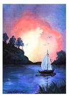 Sunset Sail Painting
