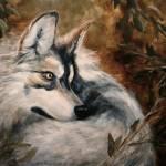 """Autumn Wolf- Wildlife painting Violano"" by stella"